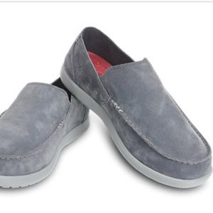 CROCS Suede Santa Cruz Loafers Grey Slip on